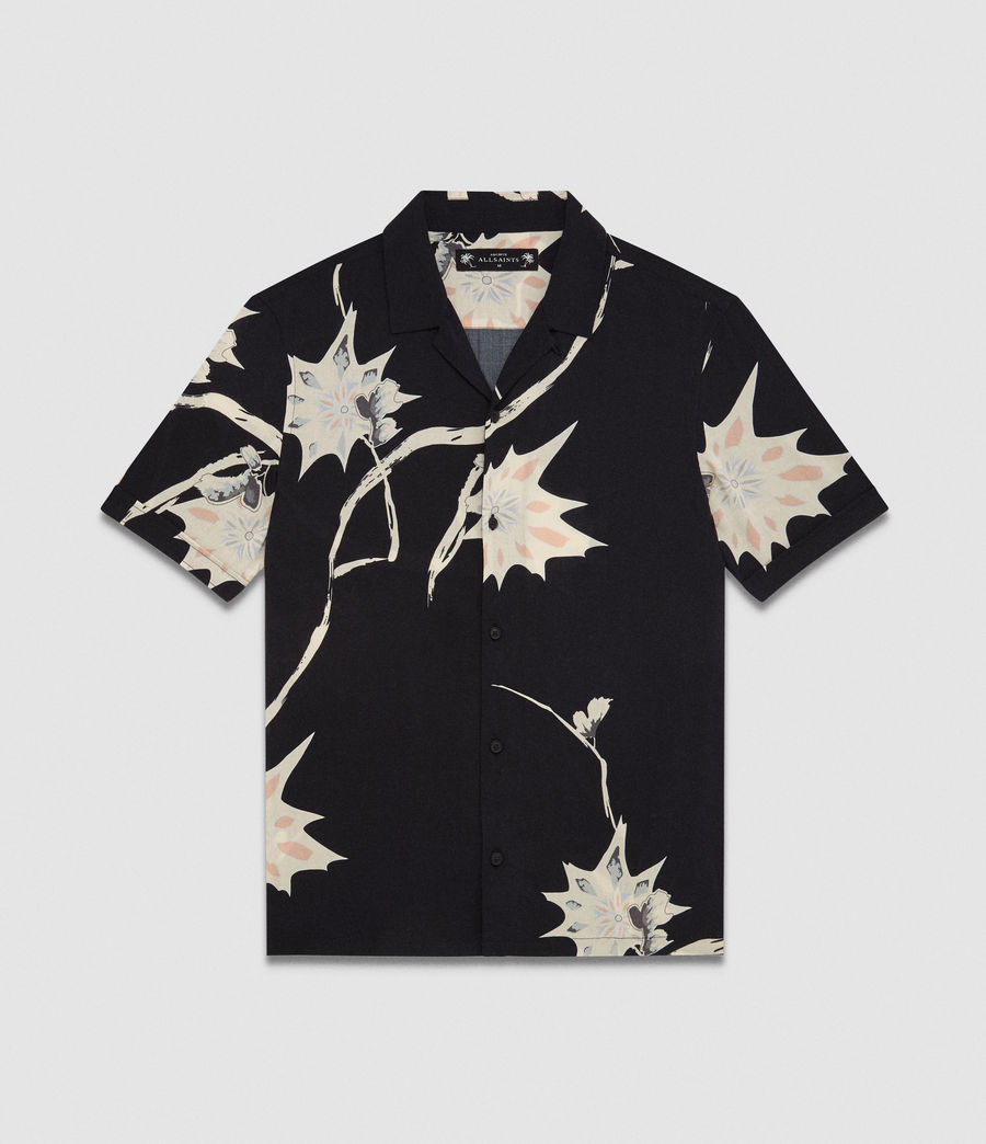 Men's Mokapu Hawaiian Shirt (jet_black) - Image 6