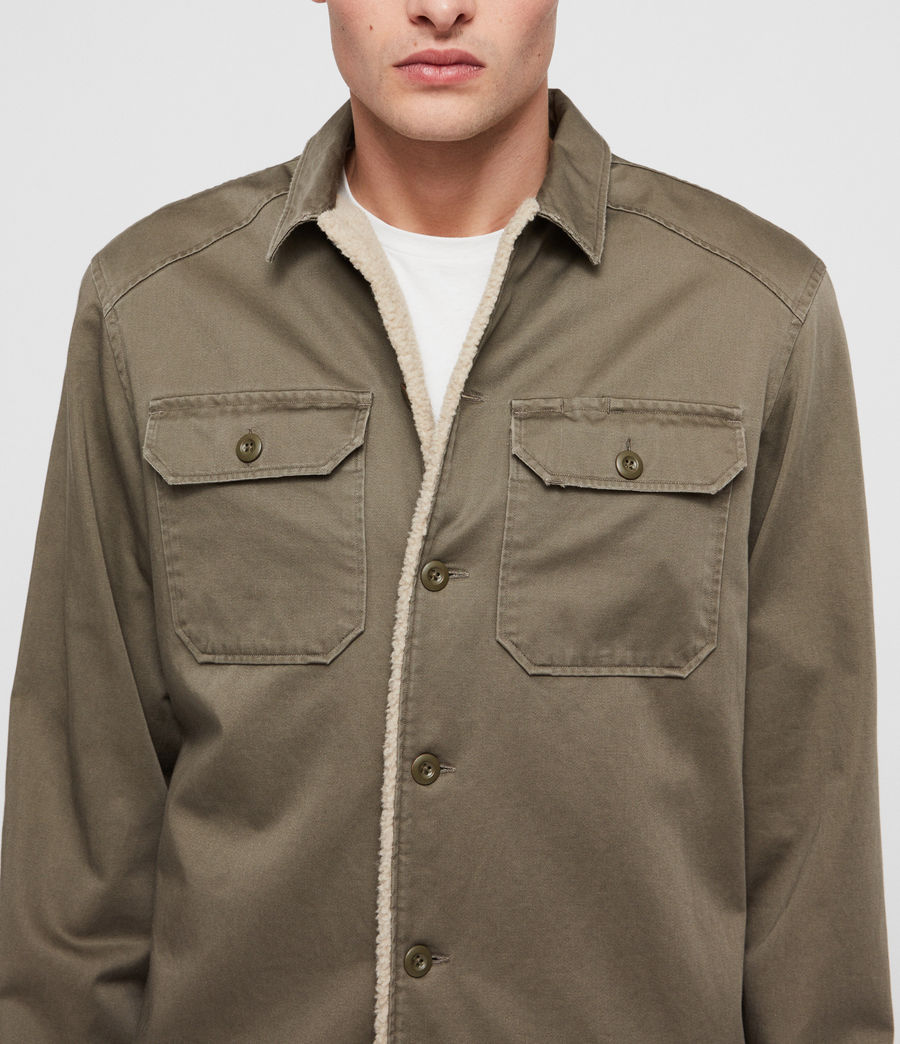 Mens Parris Shirt (olive_green) - Image 2