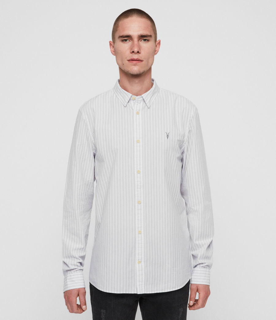 Men's Havelock Shirt (white_grey) - Image 1