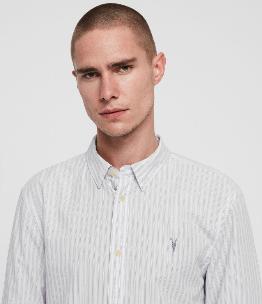 Men's Havelock Shirt (white_grey) - Image 2