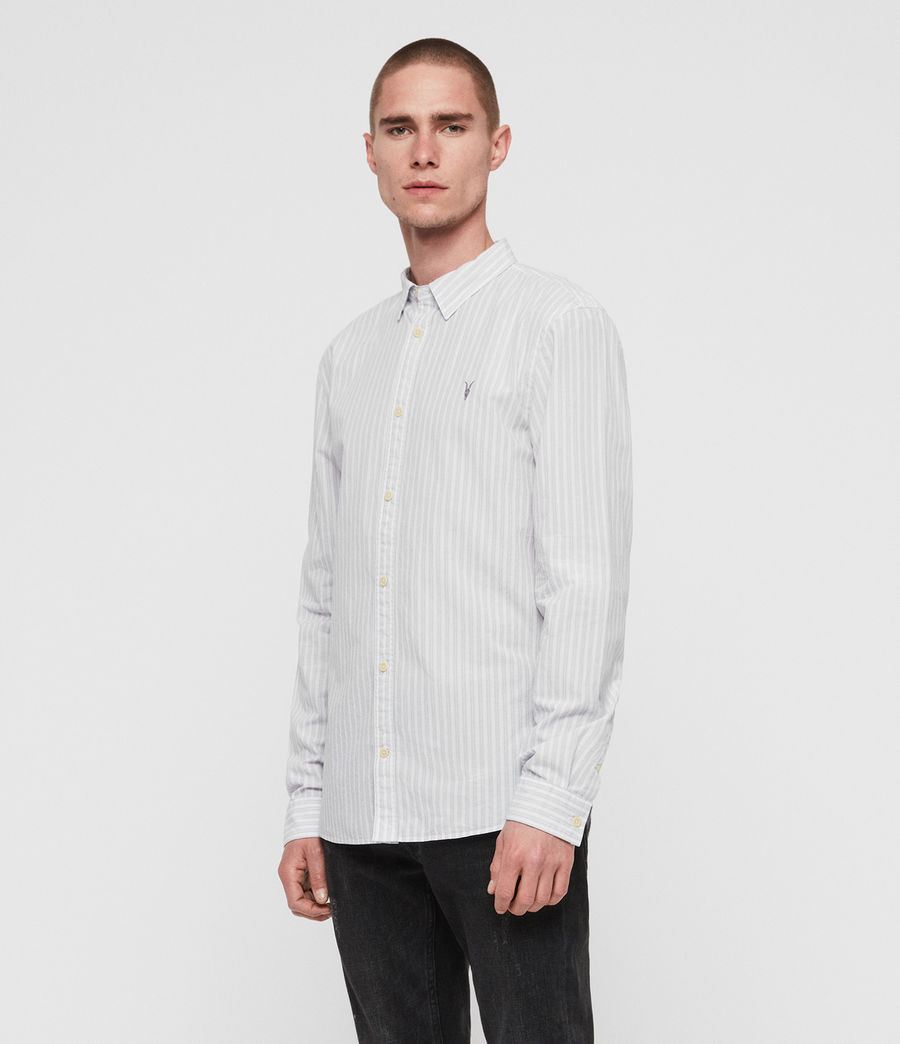 Men's Havelock Shirt (white_grey) - Image 3