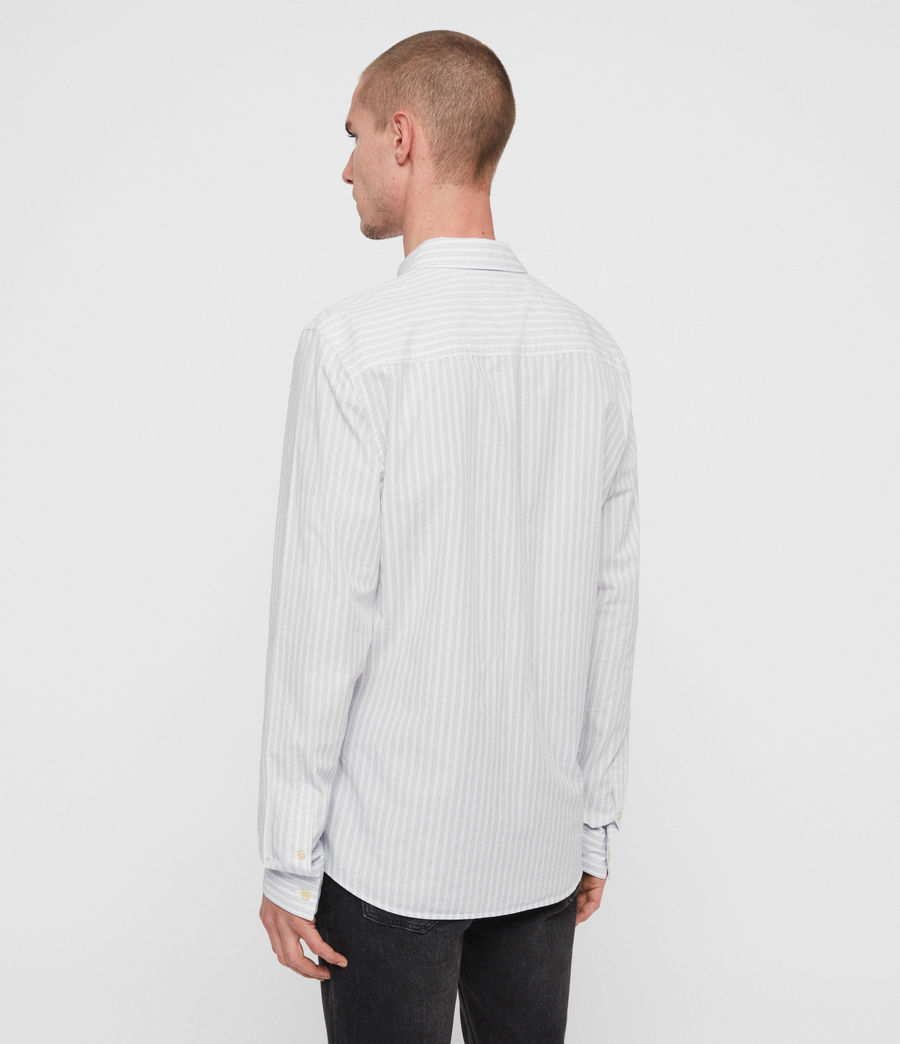 Men's Havelock Shirt (white_grey) - Image 5