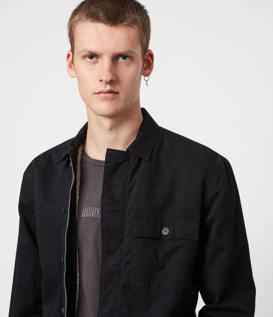 Men's Deck Sherpa-Lined Shirt (jet_black) - Image 1
