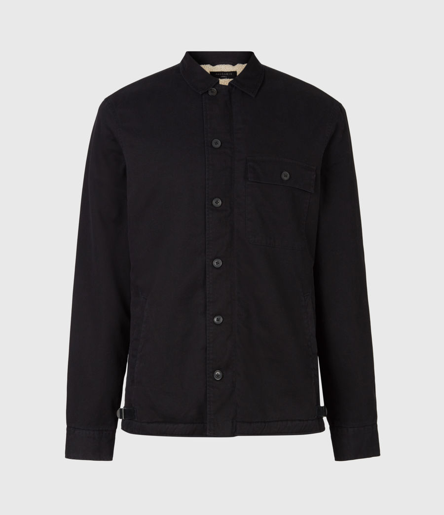Men's Deck Sherpa-Lined Shirt (jet_black) - Image 2