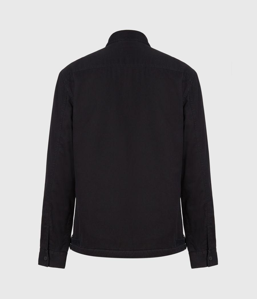 Men's Deck Sherpa-Lined Shirt (jet_black) - Image 3