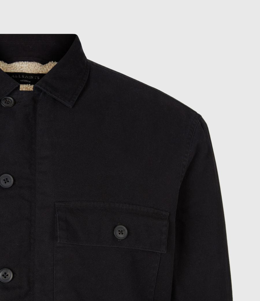 Men's Deck Sherpa-Lined Shirt (jet_black) - Image 5