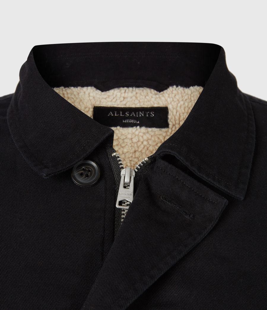 Men's Deck Sherpa-Lined Shirt (jet_black) - Image 6
