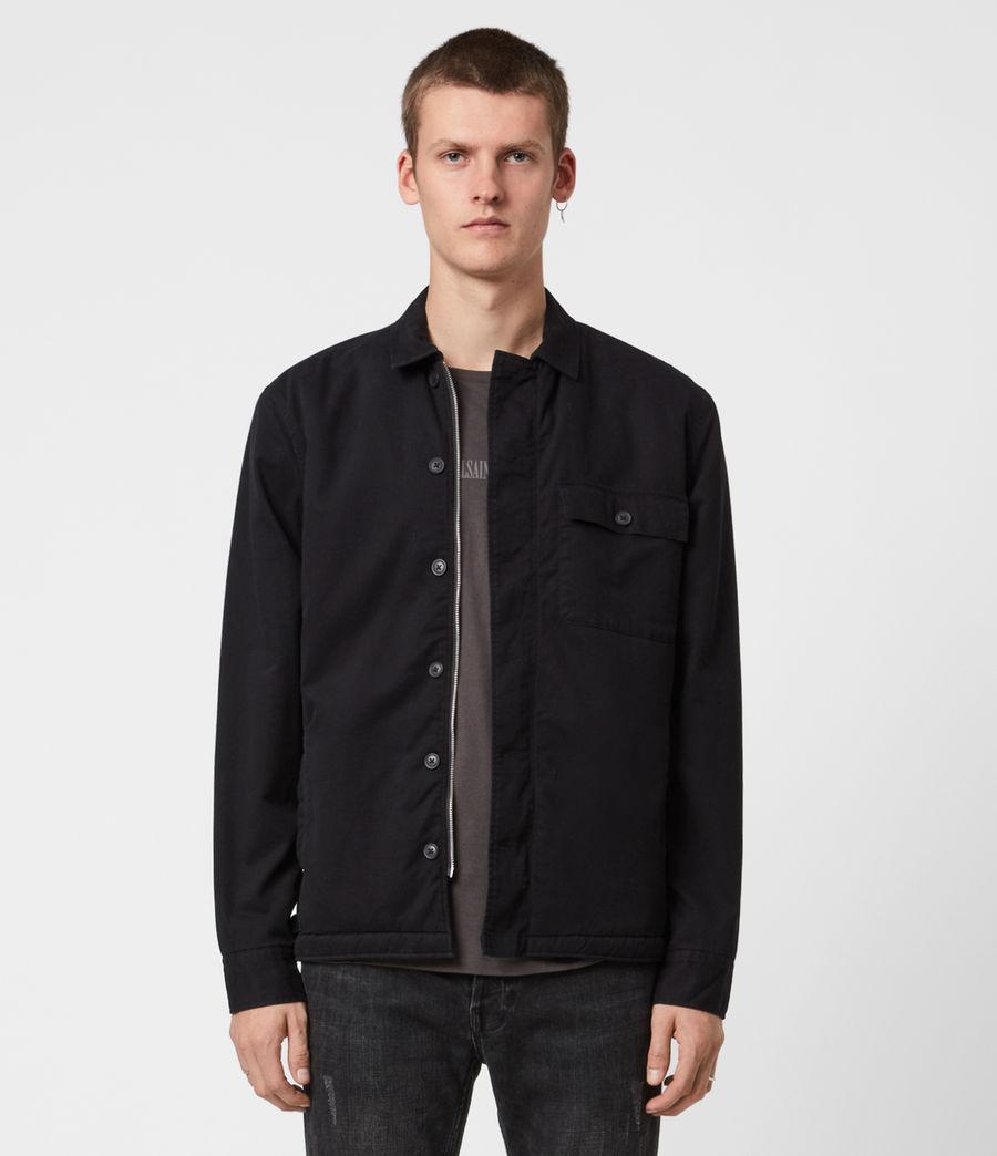 Men's Deck Sherpa-Lined Shirt (jet_black) - Image 8