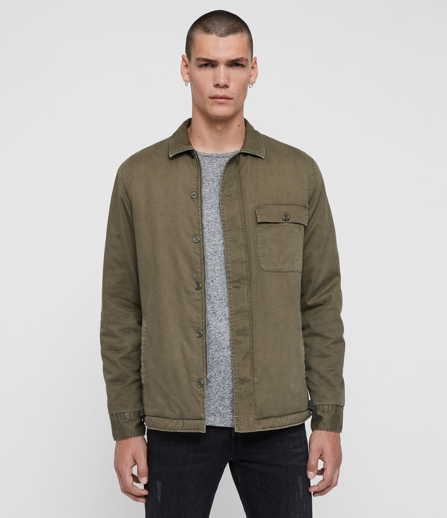Men's Deck Shirt (cargo_green) - Image 1
