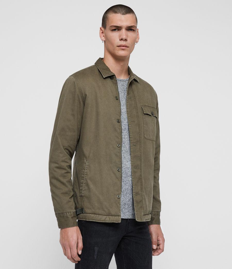 Men's Deck Shirt (cargo_green) - Image 5
