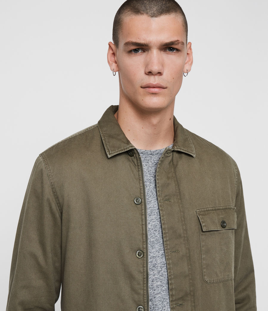 Mens Deck Shirt (cargo_green) - Image 6