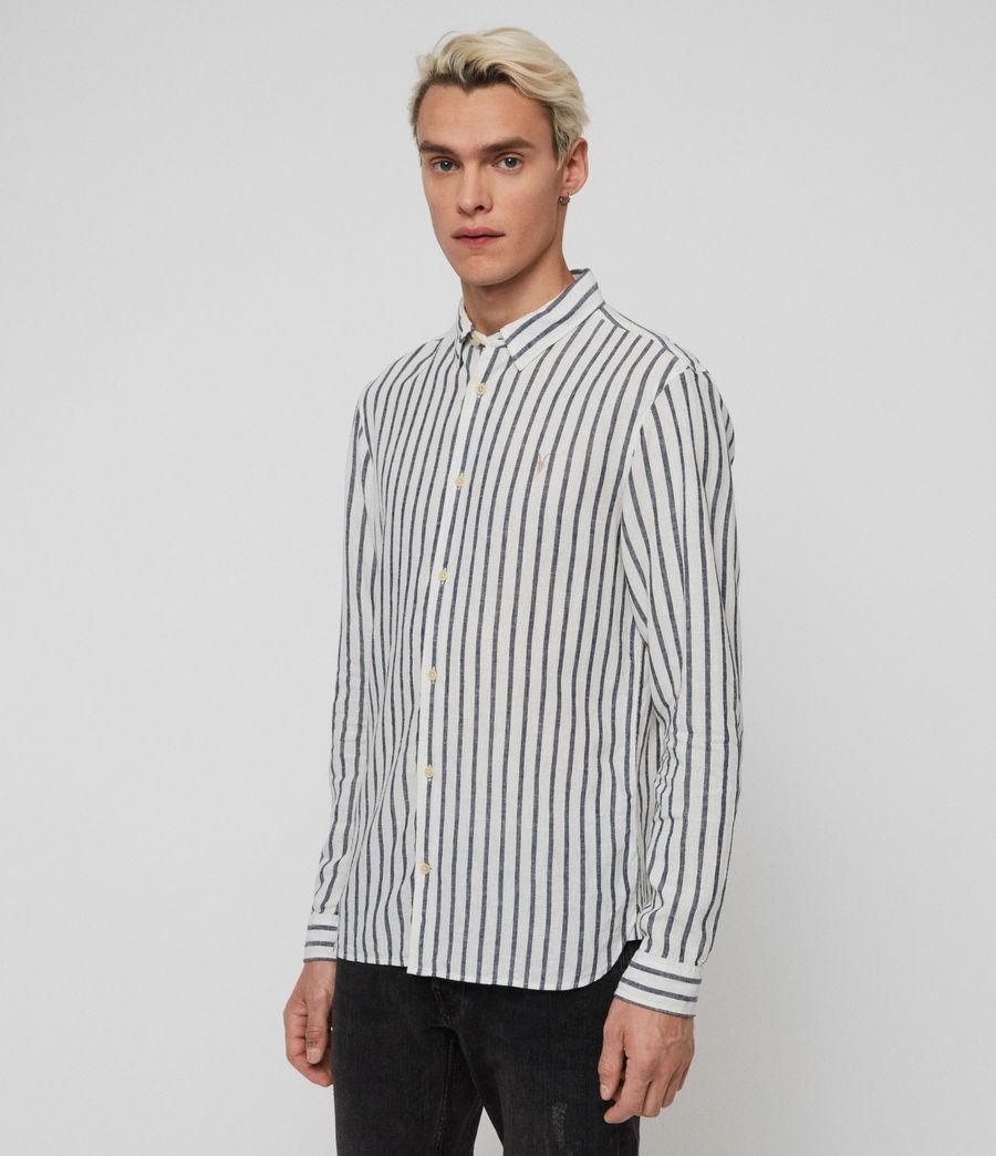 Mens Dedham Shirt (white__ink_navy) - Image 2