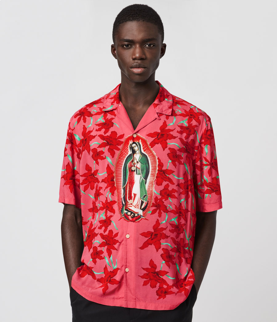Hombre Camisa de Manga Corta Guadalupe (pink) - Image 1