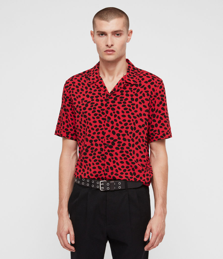 Mens Piero Shirt (red_black) - Image 1