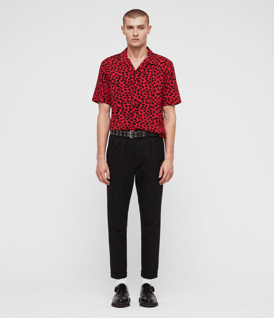 Men's Piero Shirt (red_black) - Image 3