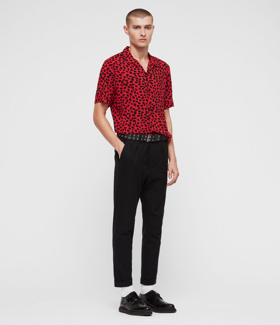 Men's Piero Shirt (red_black) - Image 4