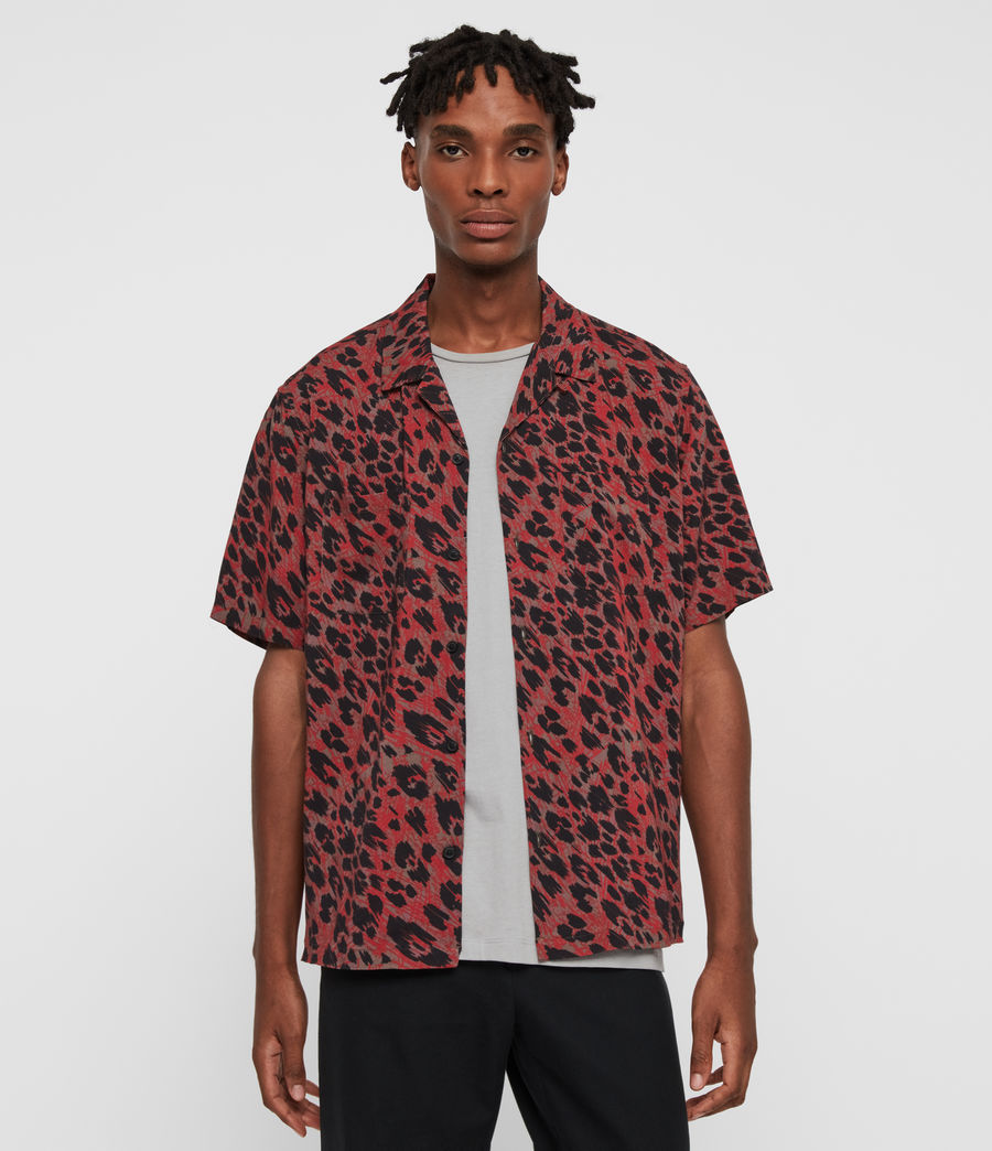 Hombres Camisa de Manga Corta Monteray (brown_red_black) - Image 1