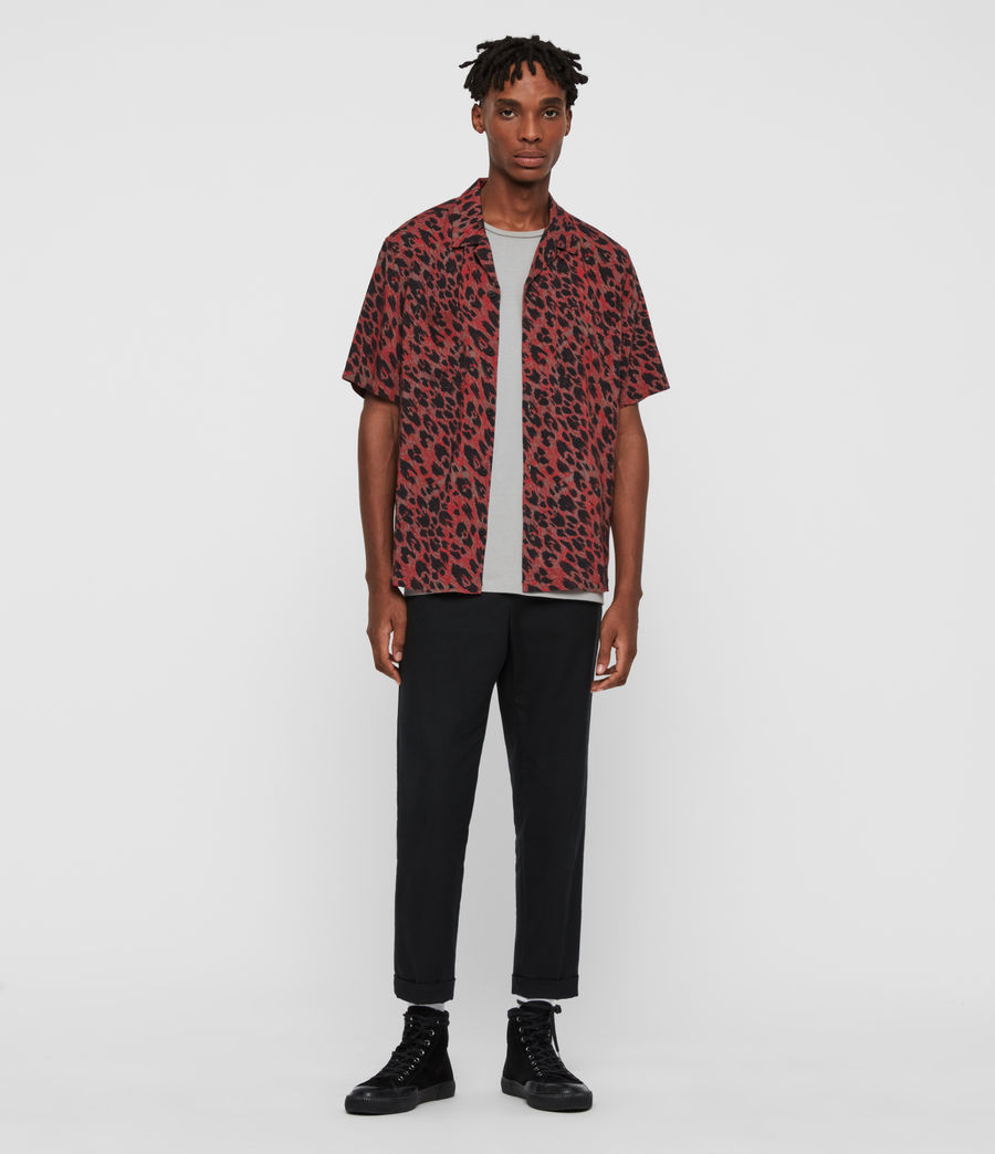 Hombres Camisa de Manga Corta Monteray (brown_red_black) - Image 3