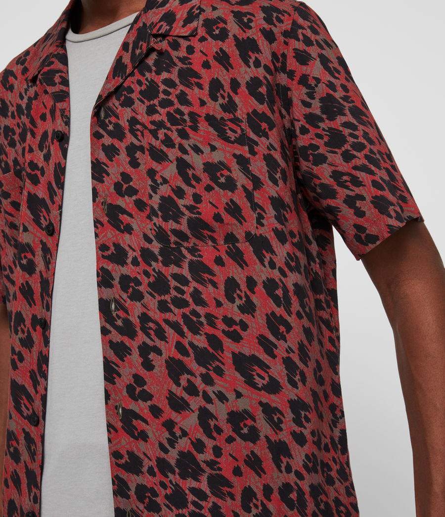 Hombres Camisa de Manga Corta Monteray (brown_red_black) - Image 5