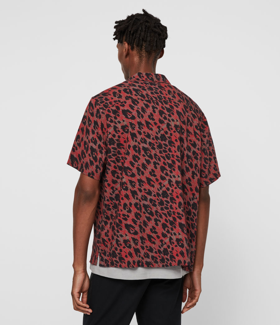 Hombres Camisa de Manga Corta Monteray (brown_red_black) - Image 6