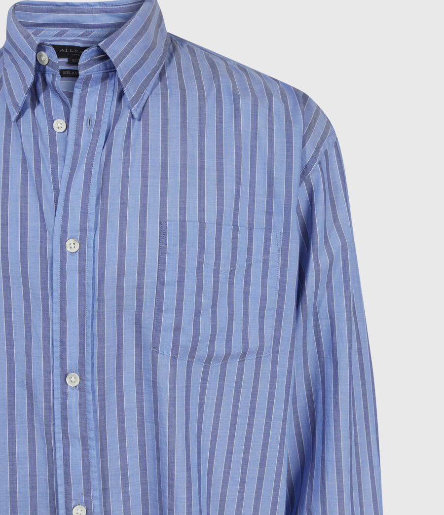 Mens Waka Shirt (blue) - Image 4