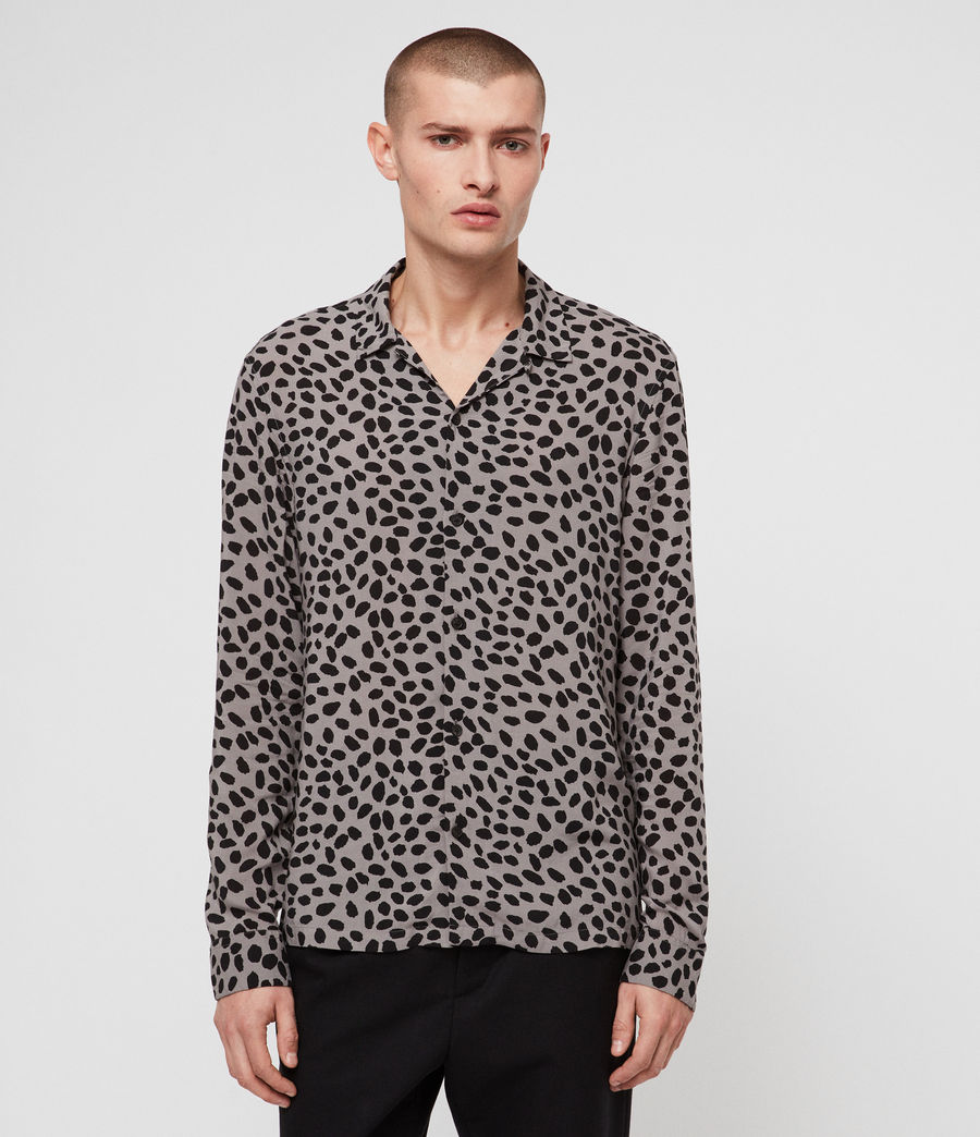 Men's Piero Shirt (mine_grey__black) - Image 1