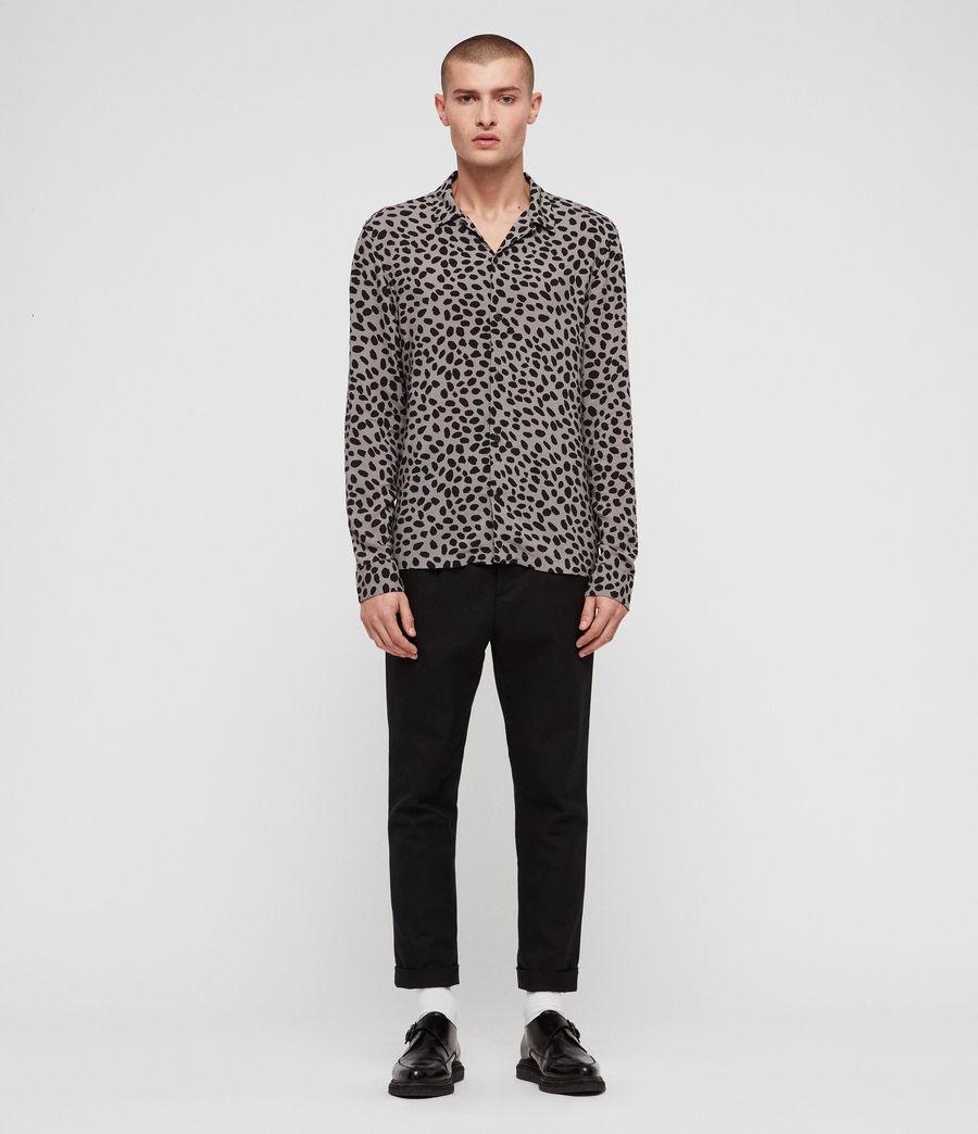 Mens Piero Shirt (mine_grey__black) - Image 3