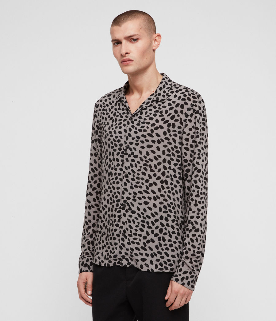 Mens Piero Shirt (mine_grey__black) - Image 4