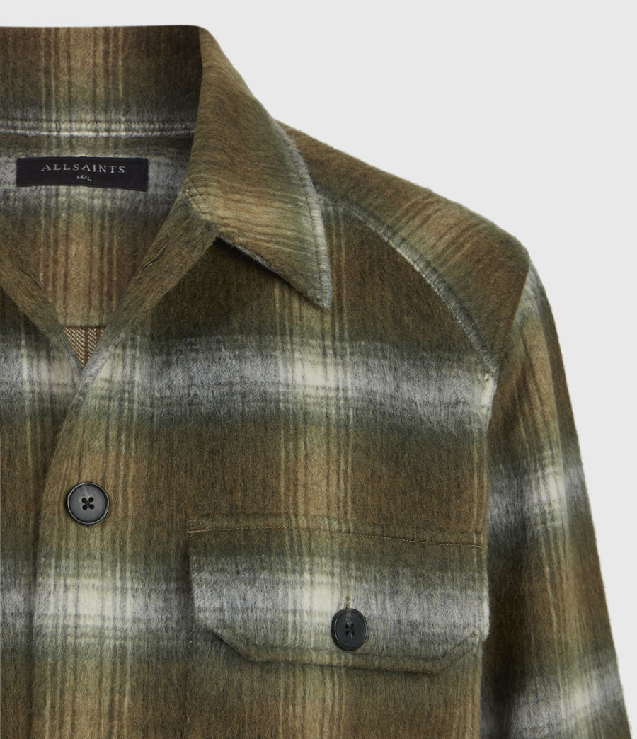 Men's Garett Shirt (khaki_white) - Image 7