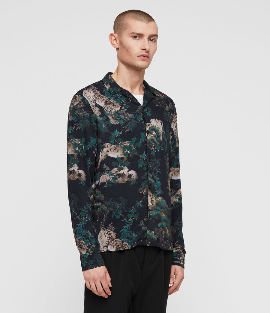 Mens Thicket Shirt (jet_black) - Image 3