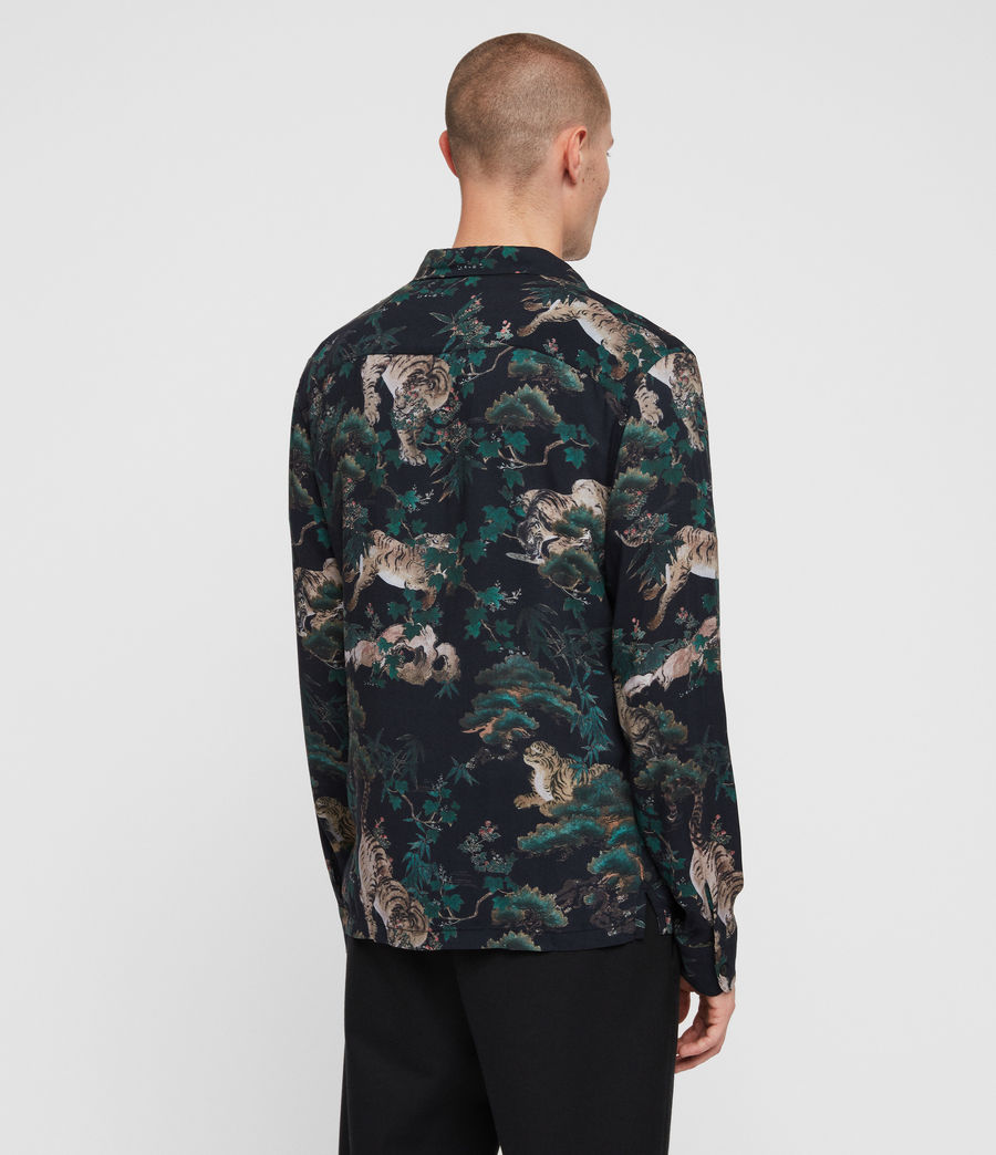 Mens Thicket Shirt (jet_black) - Image 5
