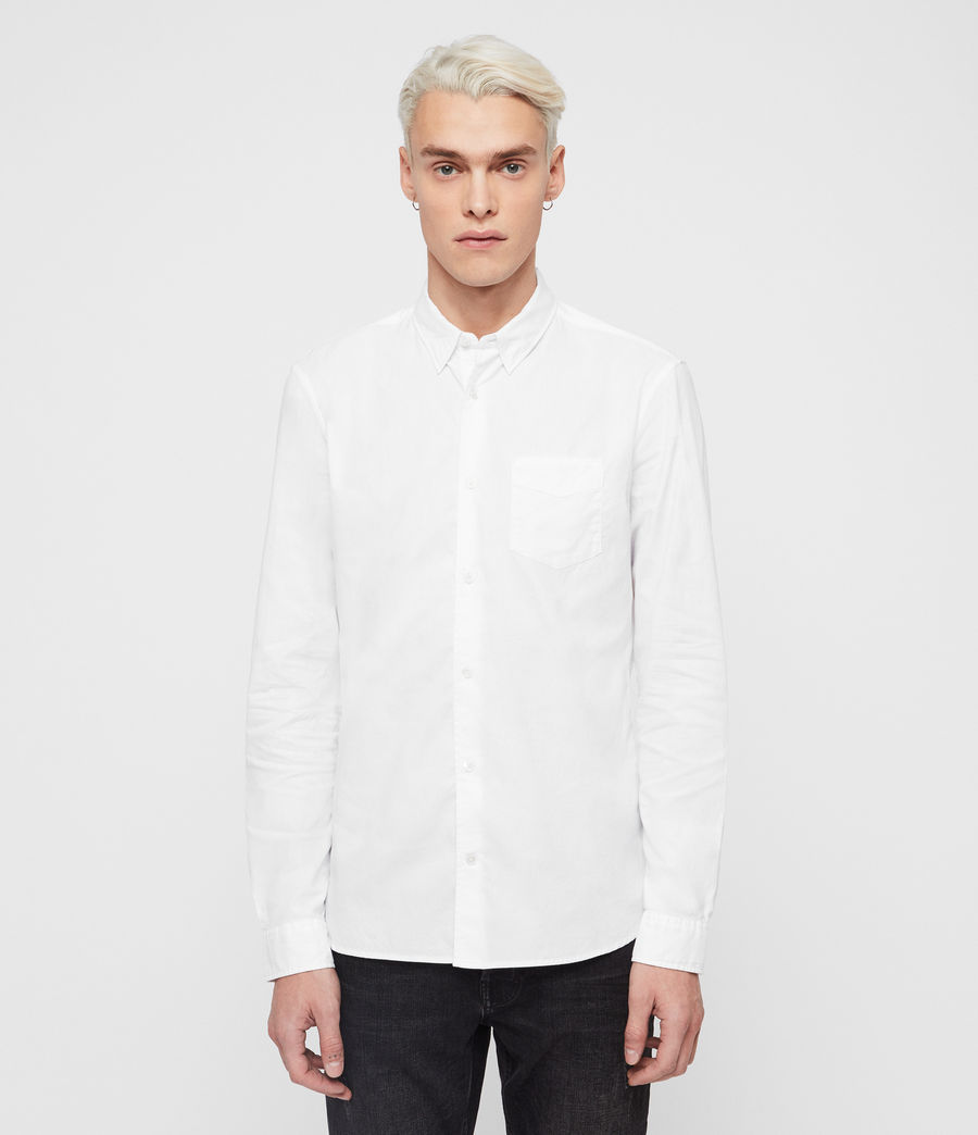 Mens Sawyer Shirt (optic_white) - Image 1
