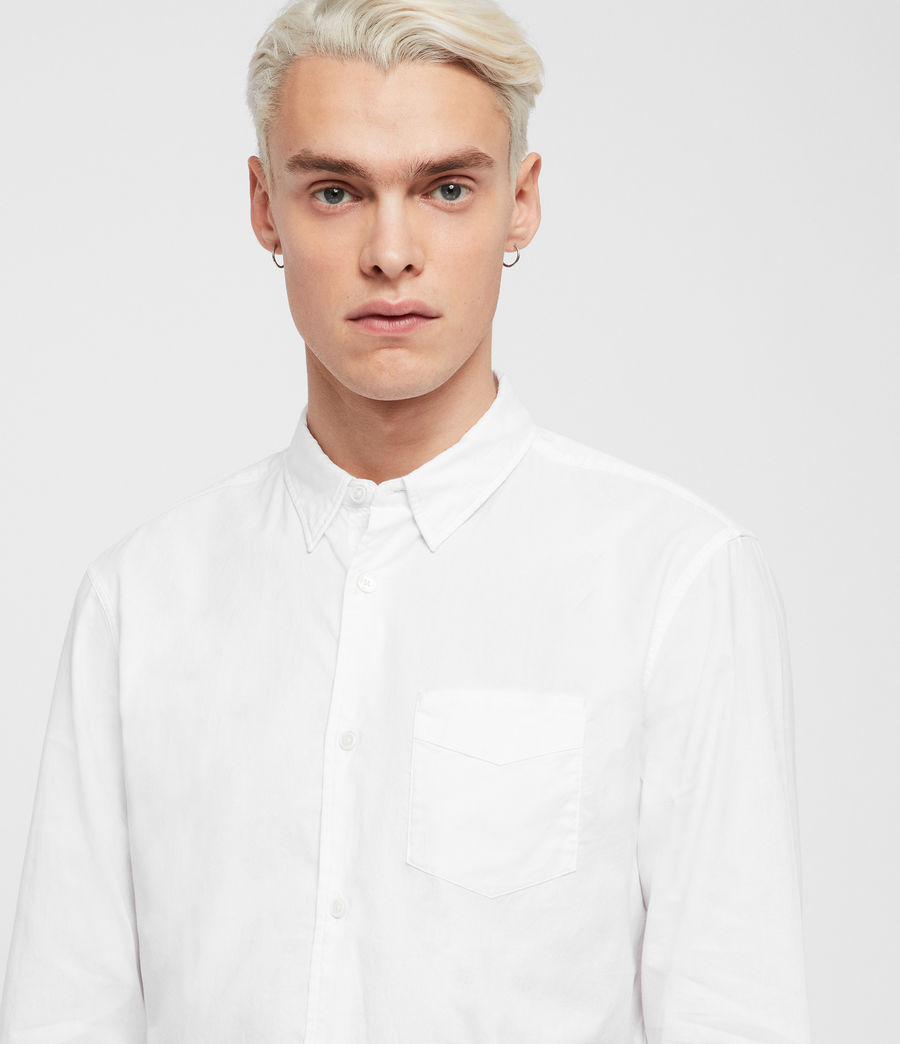 Mens Sawyer Shirt (optic_white) - Image 2