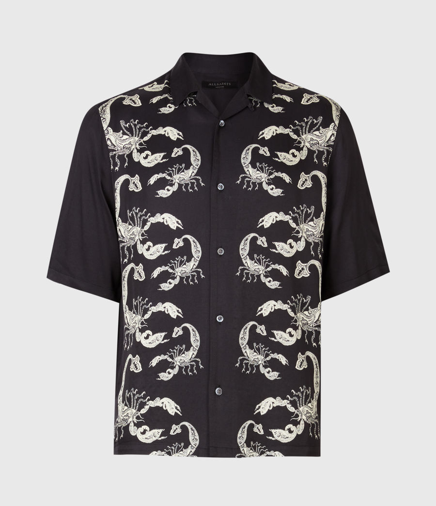 Mens Skorpio Short Sleeve Shirt (black_white) - Image 4