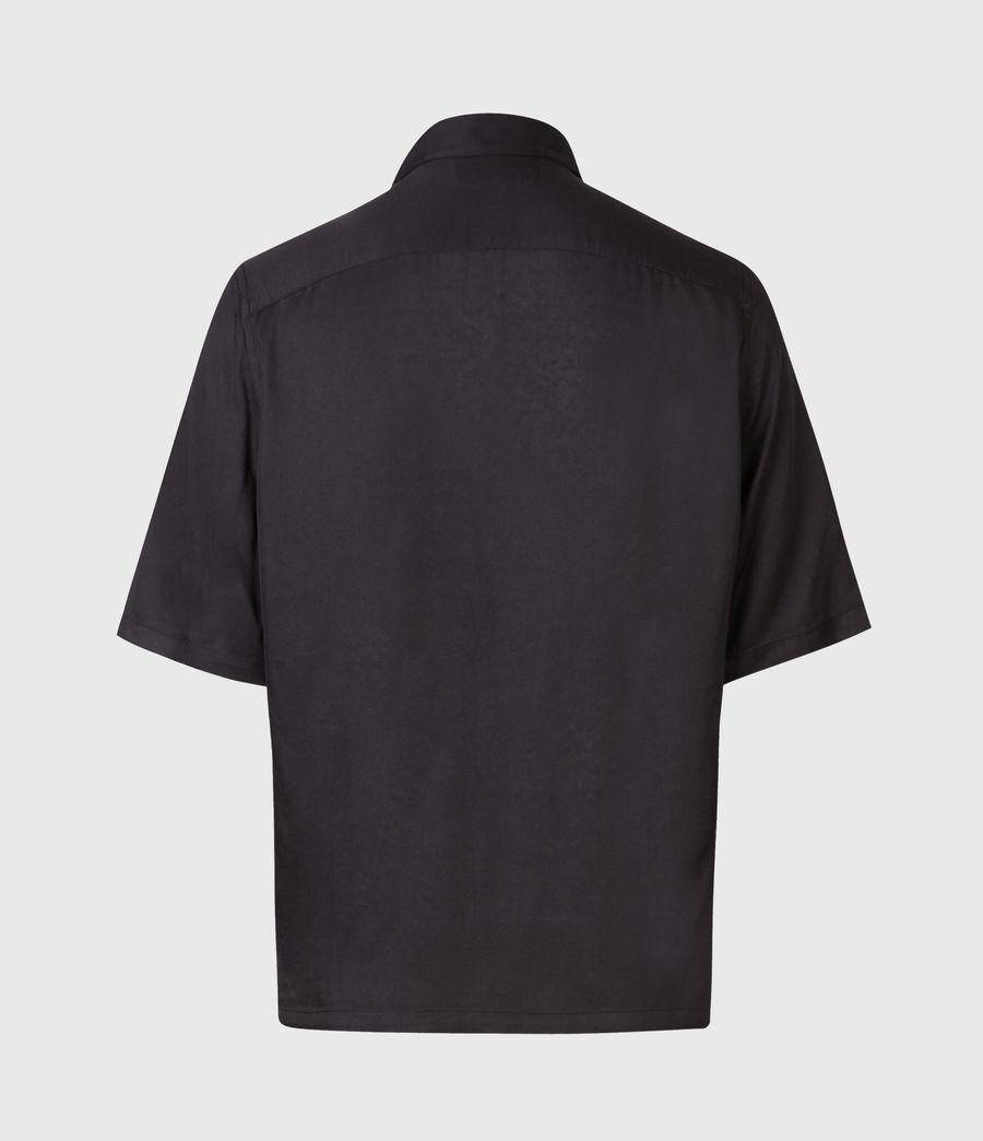 Mens Skorpio Short Sleeve Shirt (black_white) - Image 1