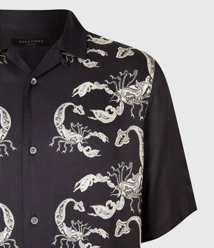 Mens Skorpio Short Sleeve Shirt (black_white) - Image 3