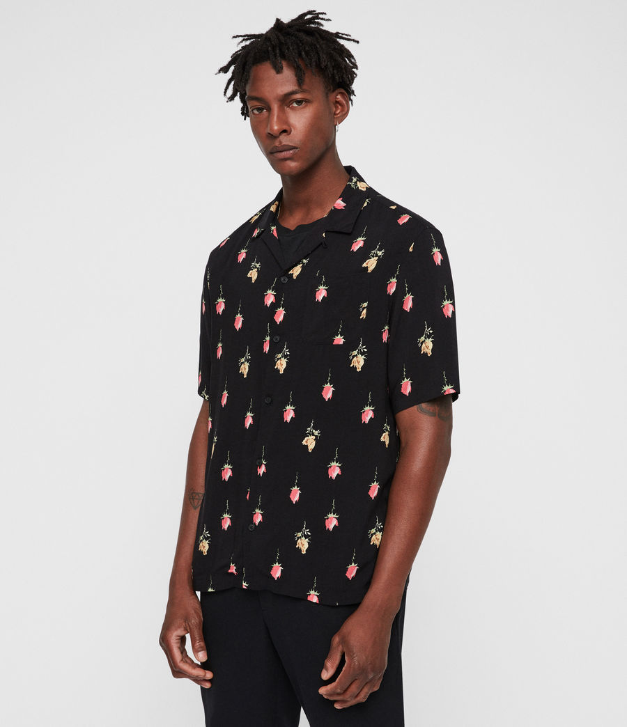 Men's Orchid Shirt (black) - Image 1