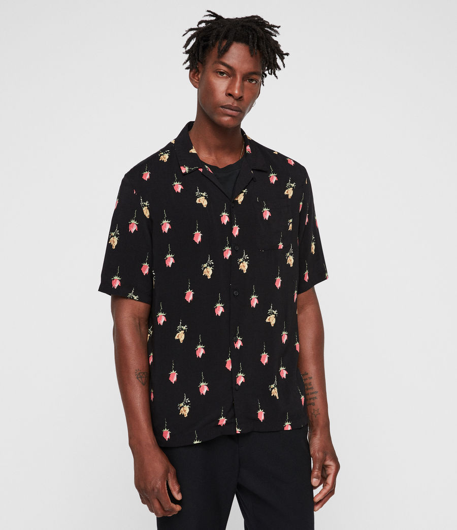Hombre Camisa Orchid (black) - Image 4