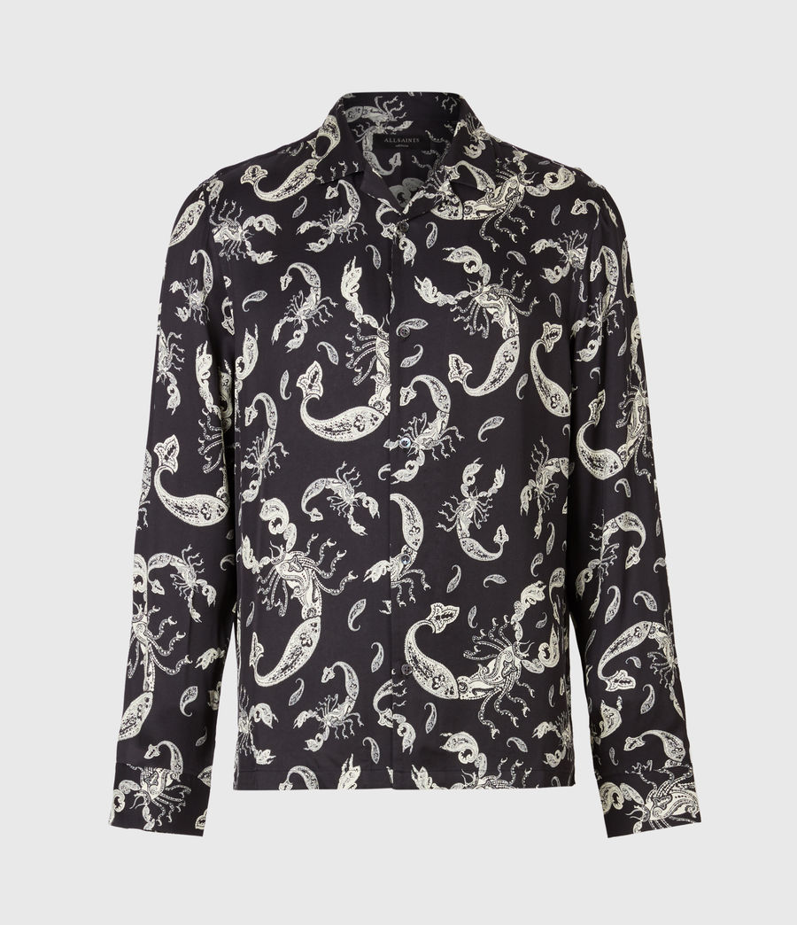 Herren Skorpio Long Sleeve Hemd (black_white) - Image 2