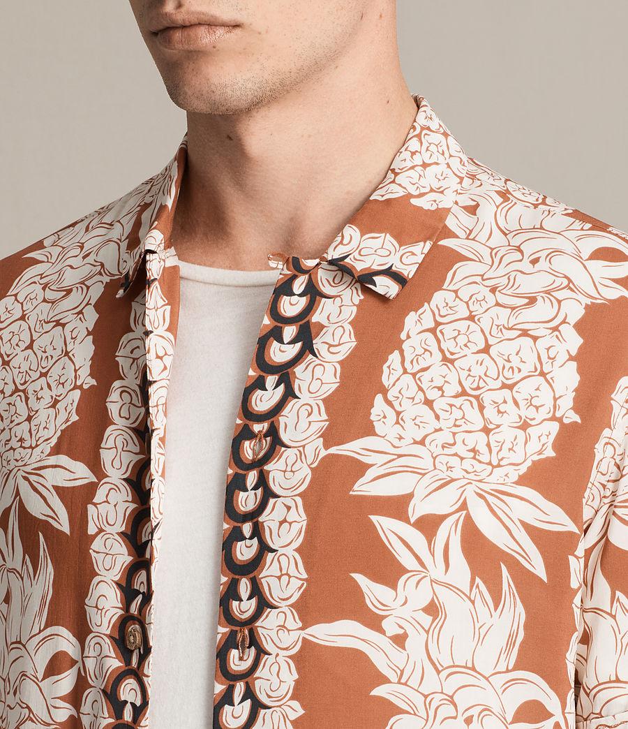 Mens Ananas Short Sleeve Shirt (sunstone_red) - Image 2