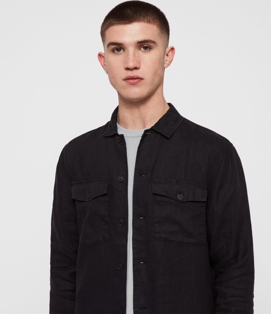 Mens Penrose Shirt (jet_black) - Image 2