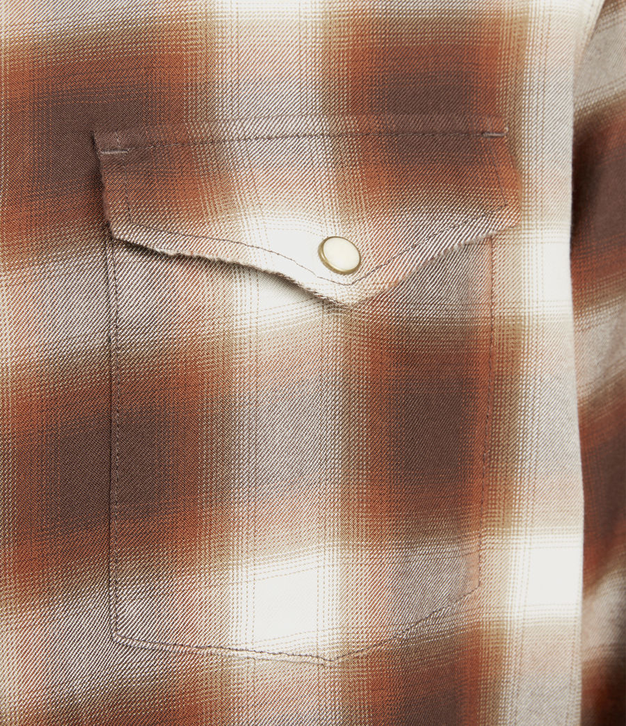Mens Collano Shirt (brown) - Image 3