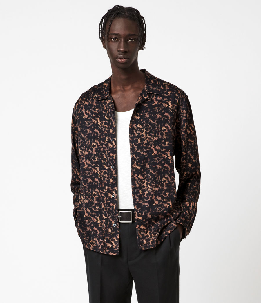 Mens Tortoiseshell Shirt (brown) - Image 1