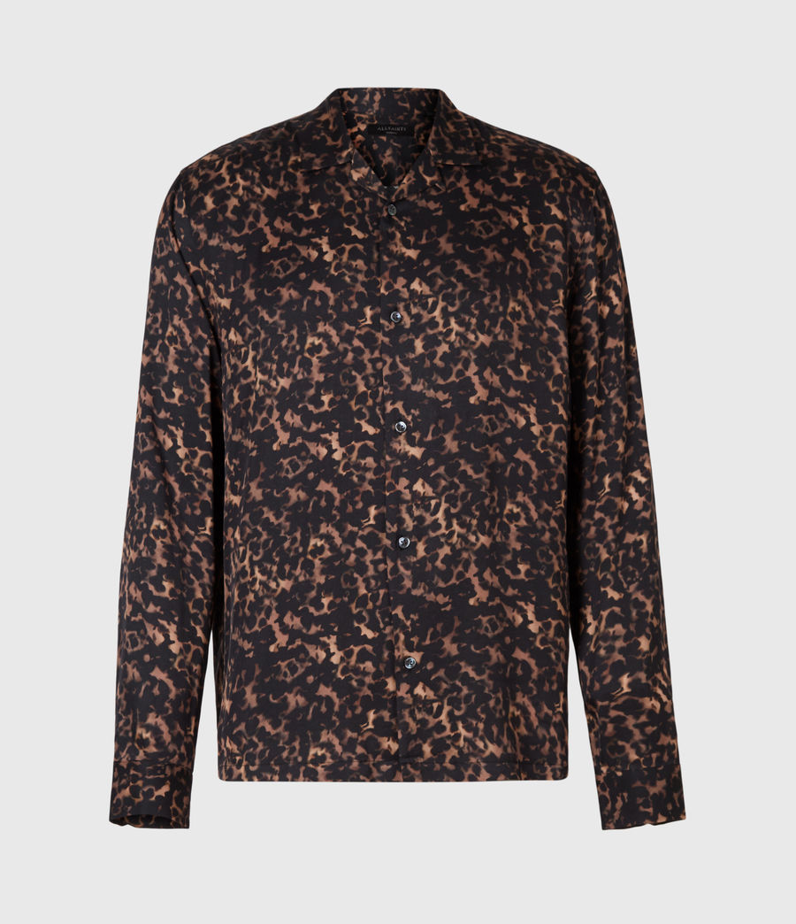 Mens Tortoiseshell Shirt (brown) - Image 2