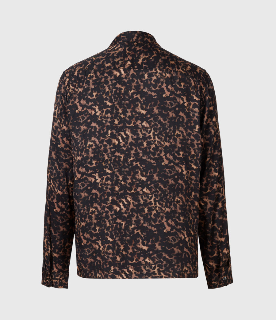 Mens Tortoiseshell Shirt (brown) - Image 3