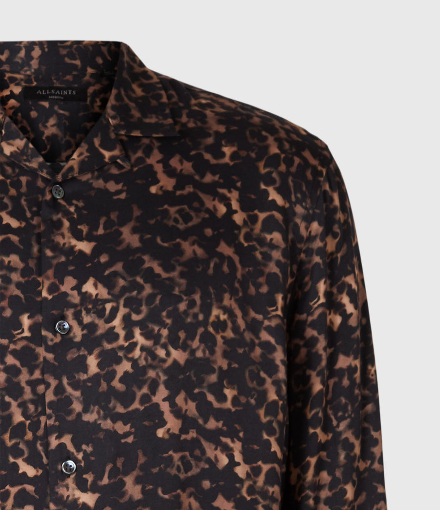 Mens Tortoiseshell Shirt (brown) - Image 5