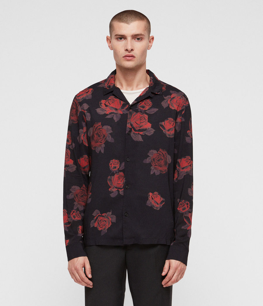 Uomo Camicia Thorn (jet_black_red) - Image 1