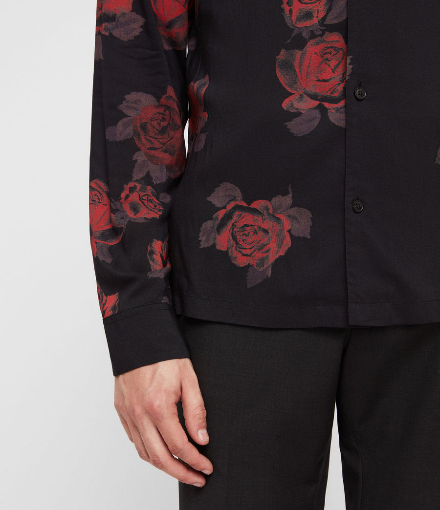 Men's Thorn Shirt (jet_black_red) - Image 2