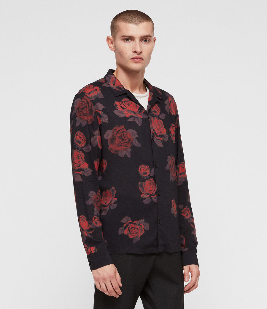 Uomo Camicia Thorn (jet_black_red) - Image 3
