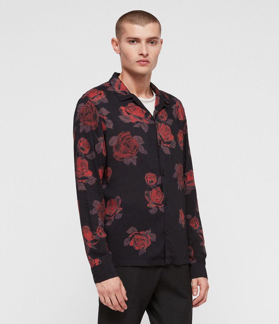 Men's Thorn Shirt (jet_black_red) - Image 3